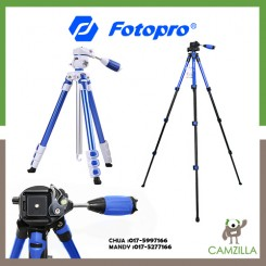 FOTOPRO S3 | ALUMINUM | PHOTO/VIDEO TRIPOD BLUE